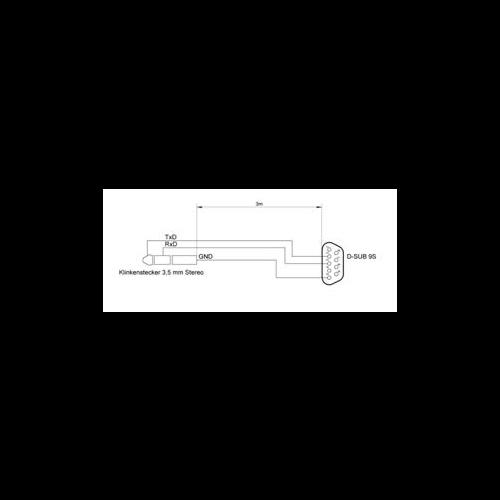 Gehäusemaße Serielles Schnittstellenkabel BK 100