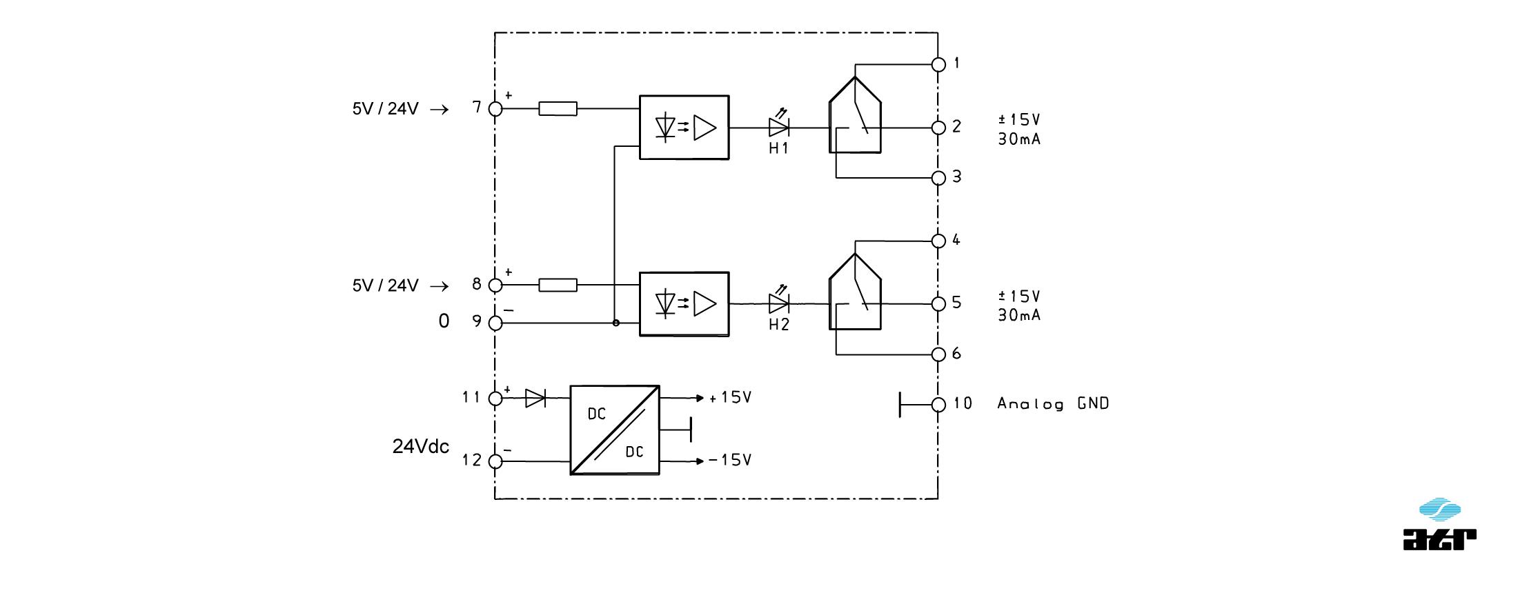 Anschlussplan: ATR Analogschalter OM2