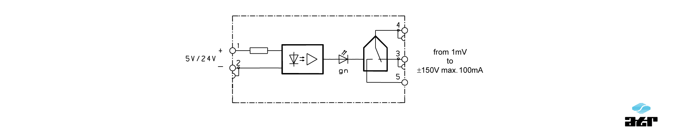 Anschlussplan: ATR Passiver Analogschalter OT10