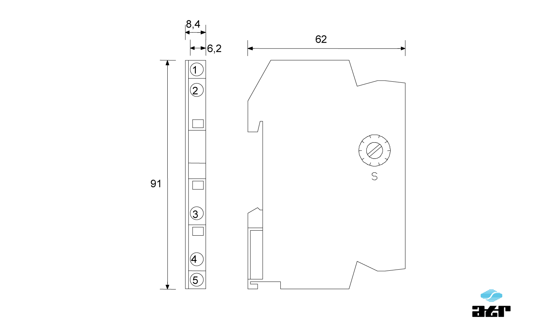 Gehäusemaße: ATR Digitale Signalverarbeiter DT11