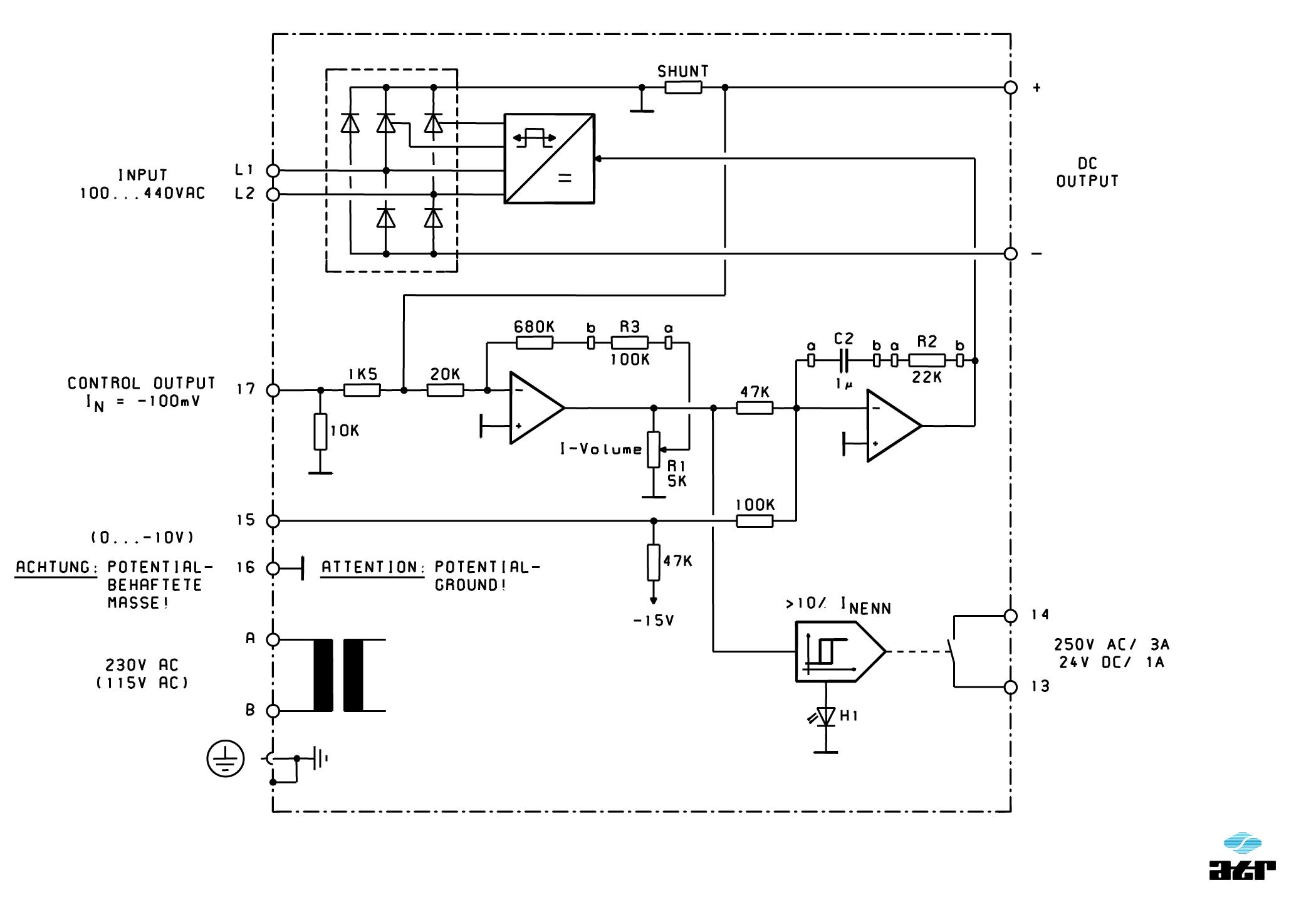 Anschlussplan: ATR Gleichstromversorgung GG8