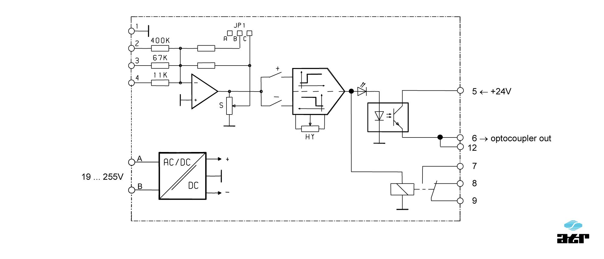 Anschlussplan: ATR Grenzwertschalter KM211