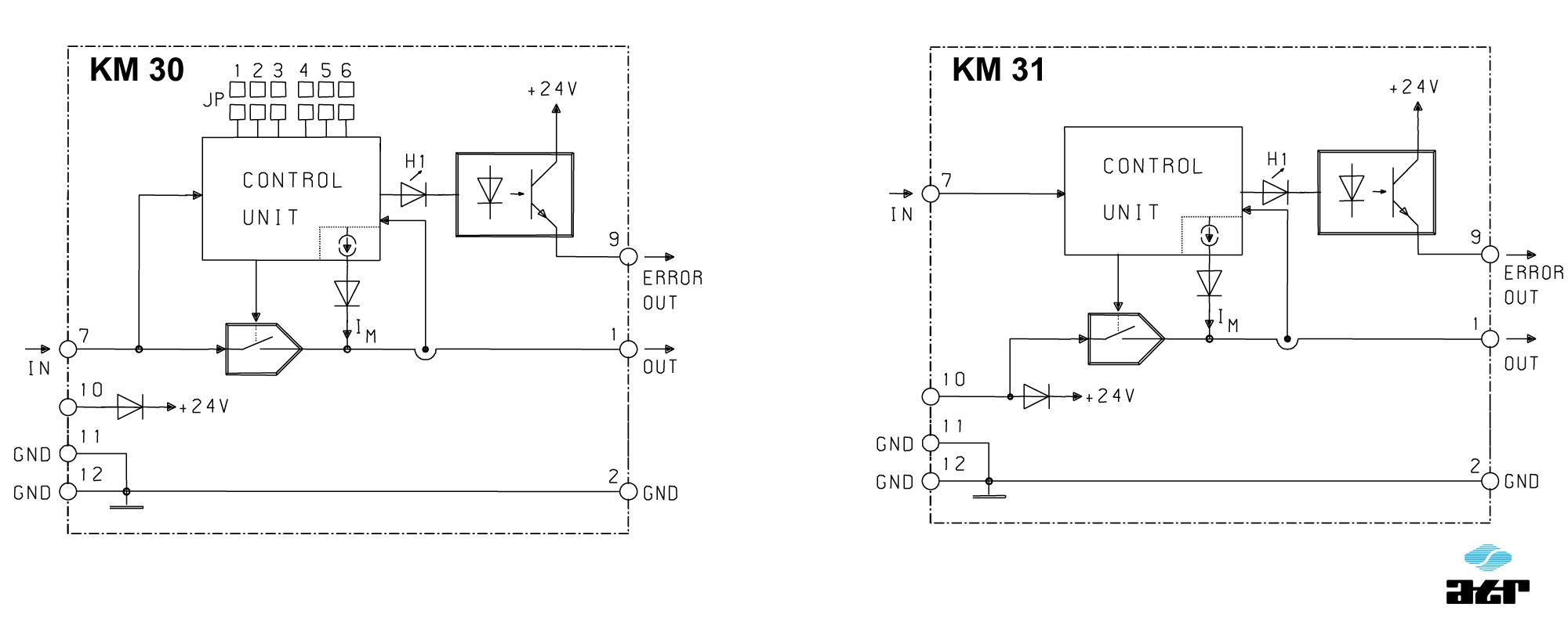 Anschlussplan: ATR Grenzwertschalter KM30-KM31