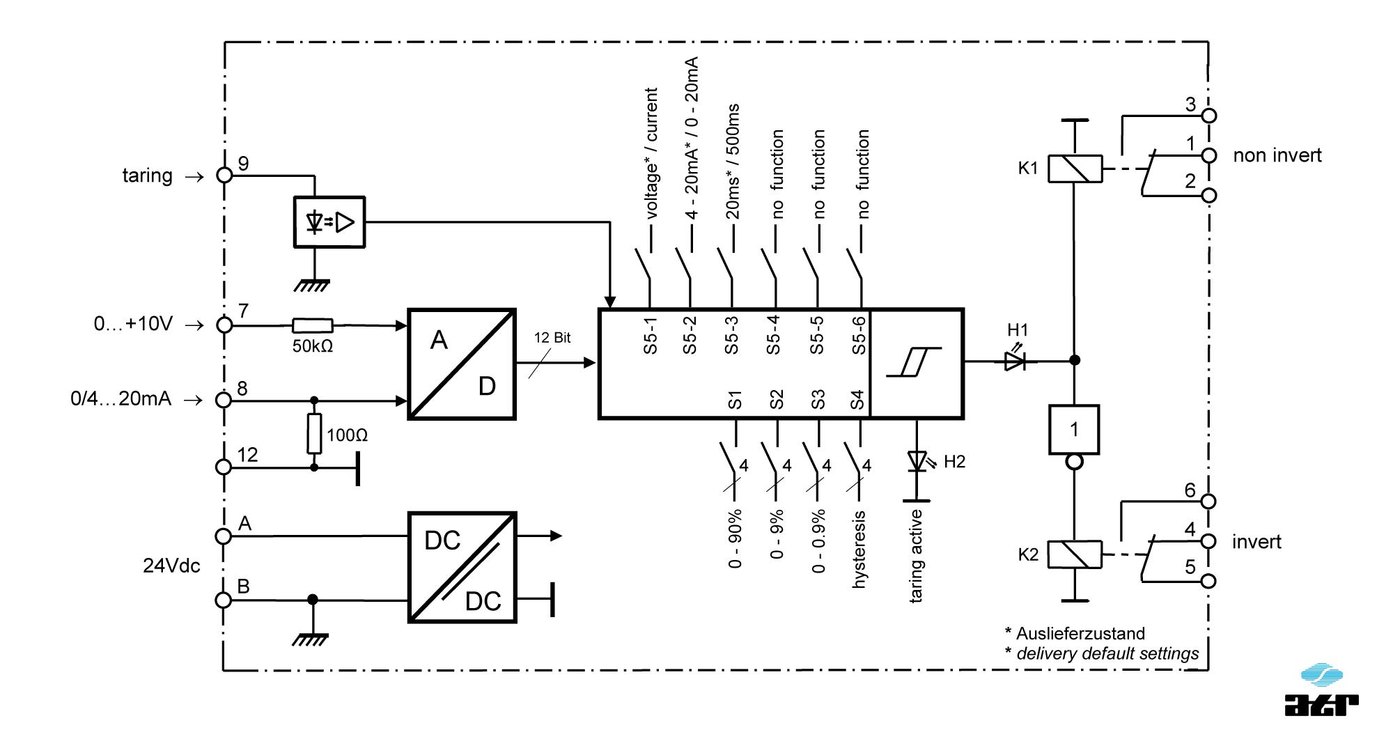 Anschlussplan: ATR Grenzwertschalter KM40