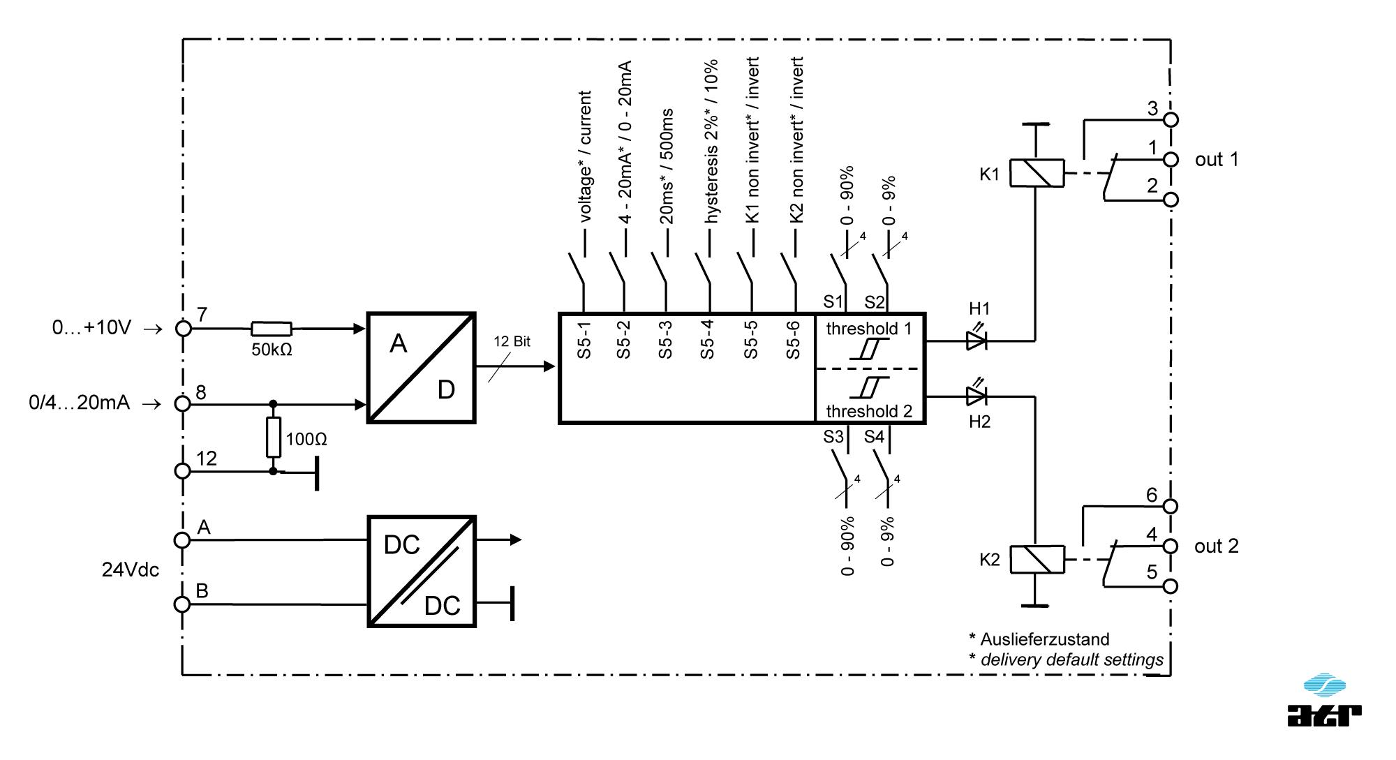 Anschlussplan: ATR Grenzwertschalter KM41