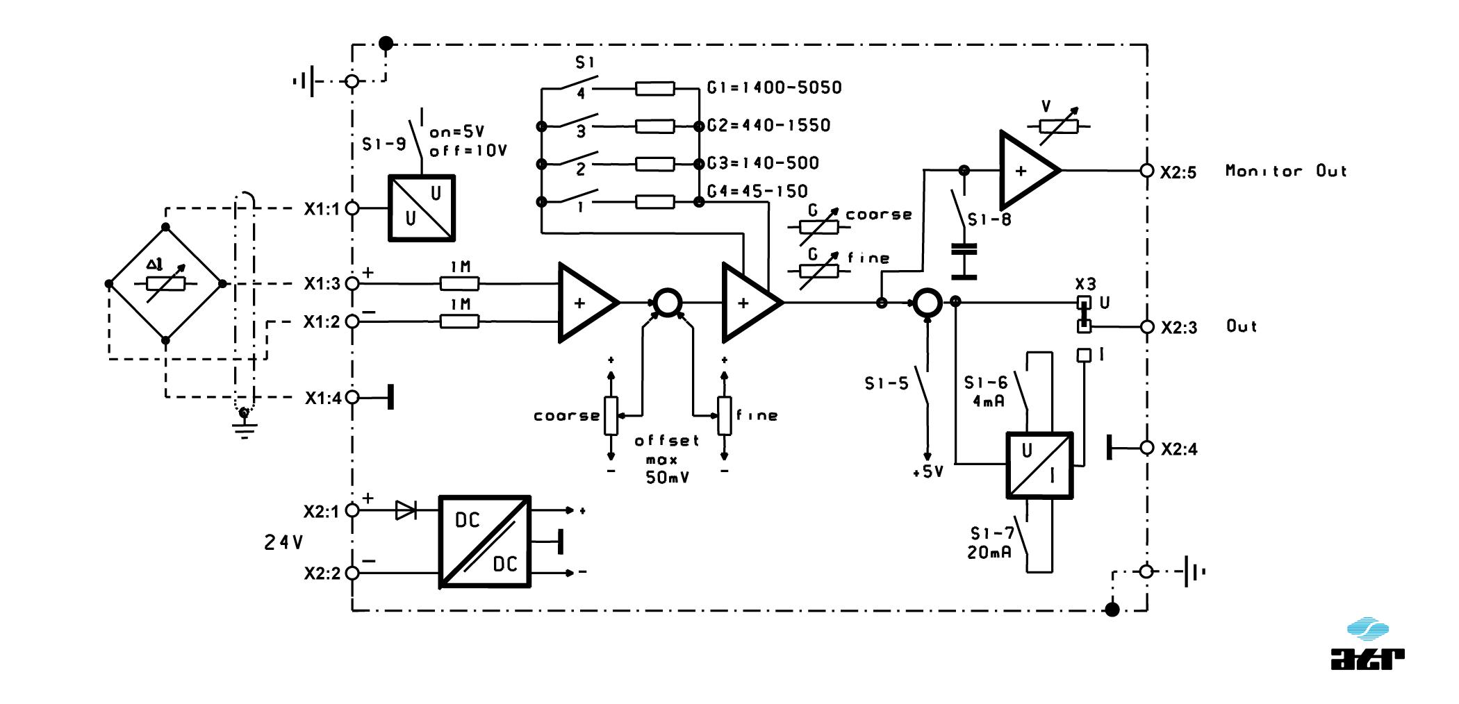 Anschlussplan: ATR Messverstärker VG140