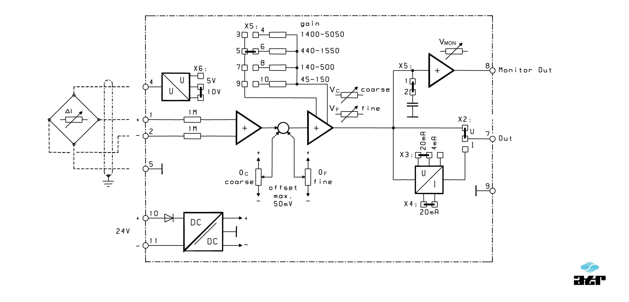 Anschlussplan: ATR Messverstärker VM150-VM151