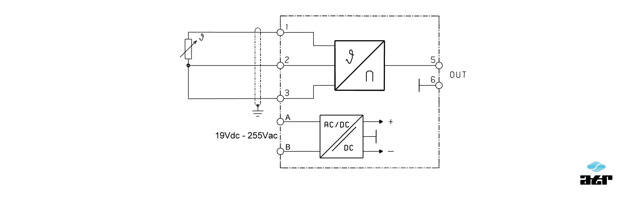 Anschlussplan: ATR Messverstärker VM250-VM252