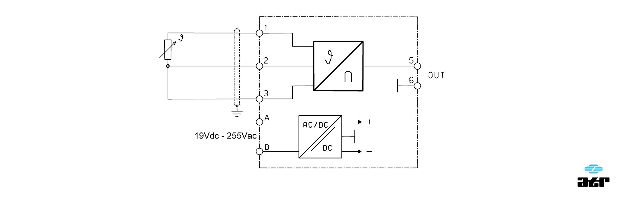 Anschlussplan: ATR Messverstärker VM255-VM257