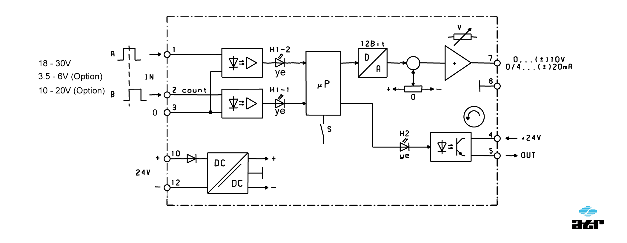 Anschlussplan: ATR Messverstärker VM80-VM84