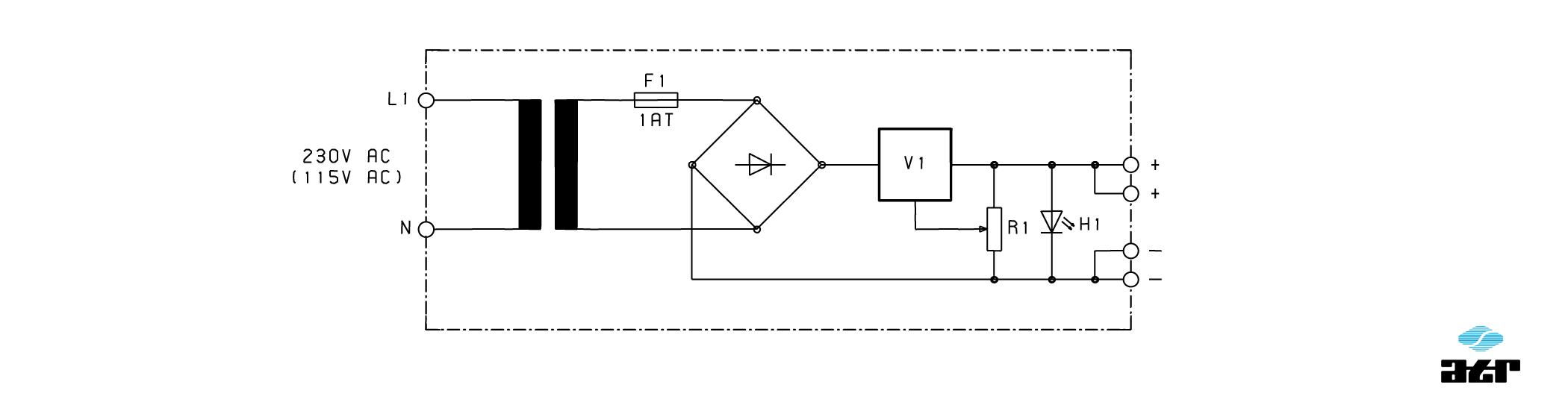 Anschlussplan: ATR Netzgerät NG800