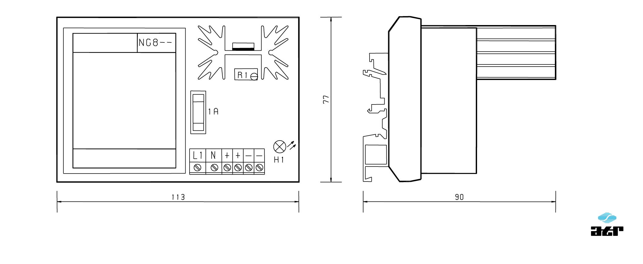 Gehäusemaße: ATR Netzgerät NG800