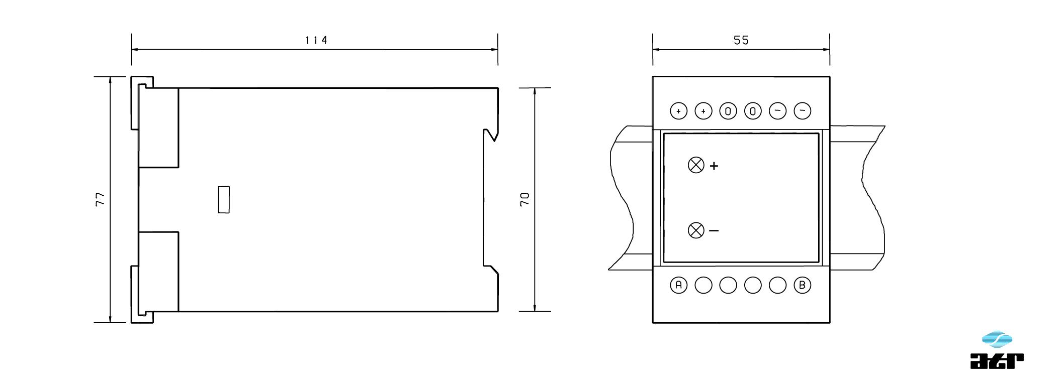 Gehäusemaße: ATR Netzgerät NM200 + NM210