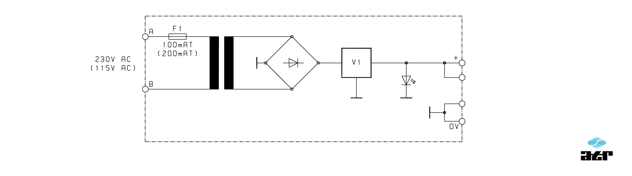 Anschlussplan: ATR Netzgerät NM324, NM415, NM605