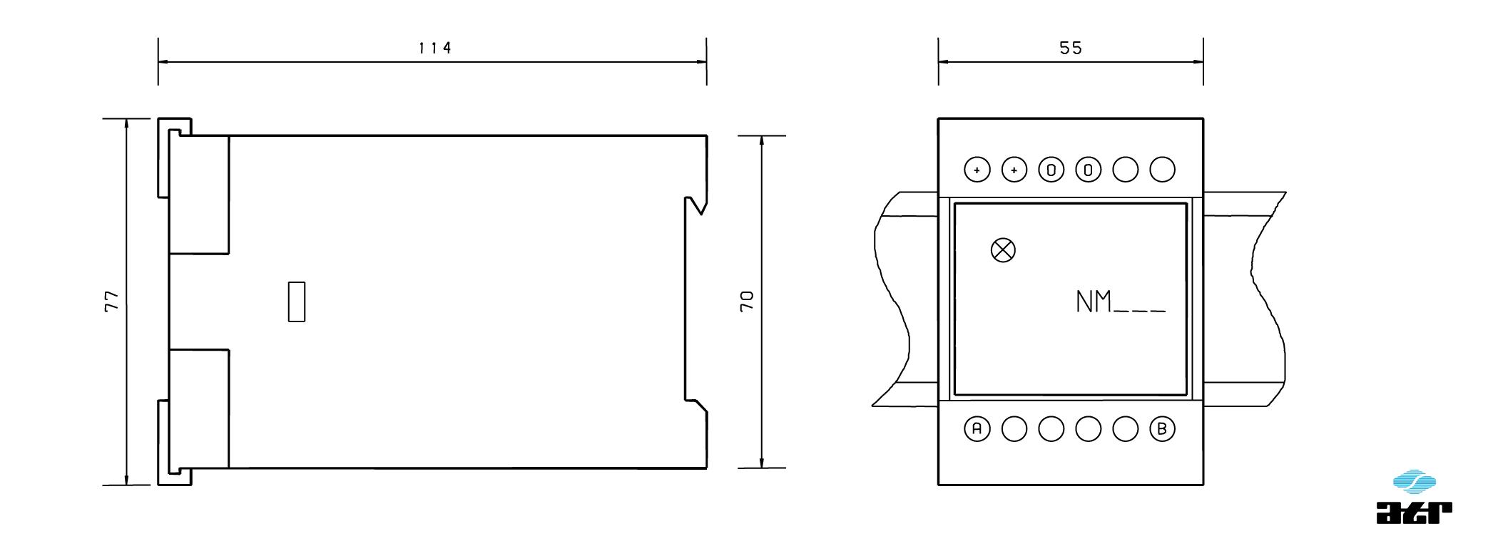 Gehäusemaße: ATR Netzgerät NM324, NM415, NM605
