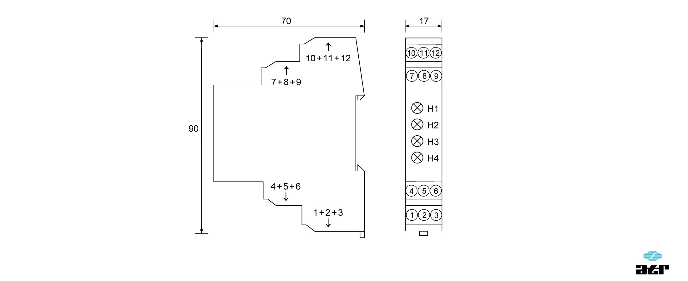 Gehäusemaße: ATR Pegelumsetzer HM1 + HM2