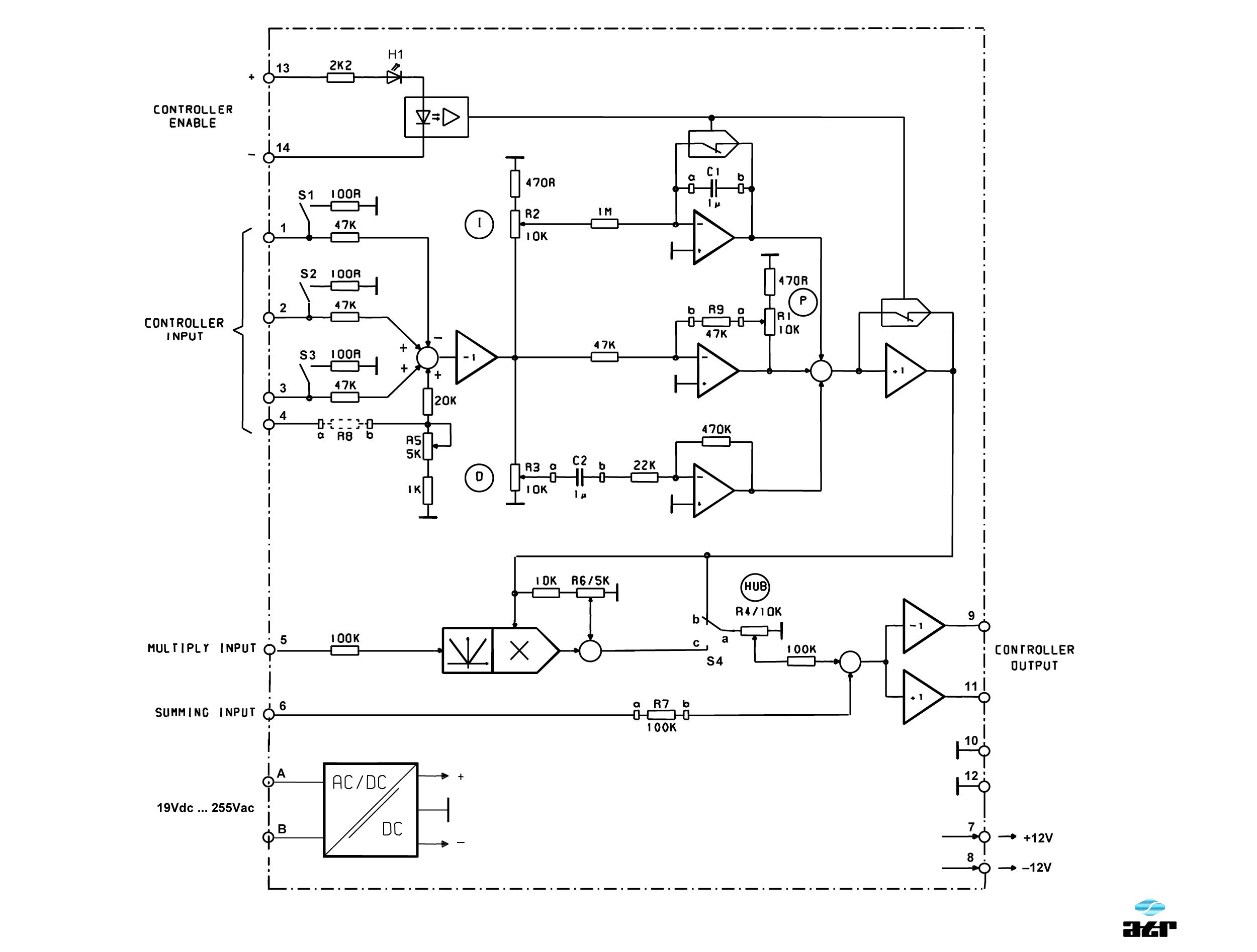 Anschlussplan: ATR Regler VM201