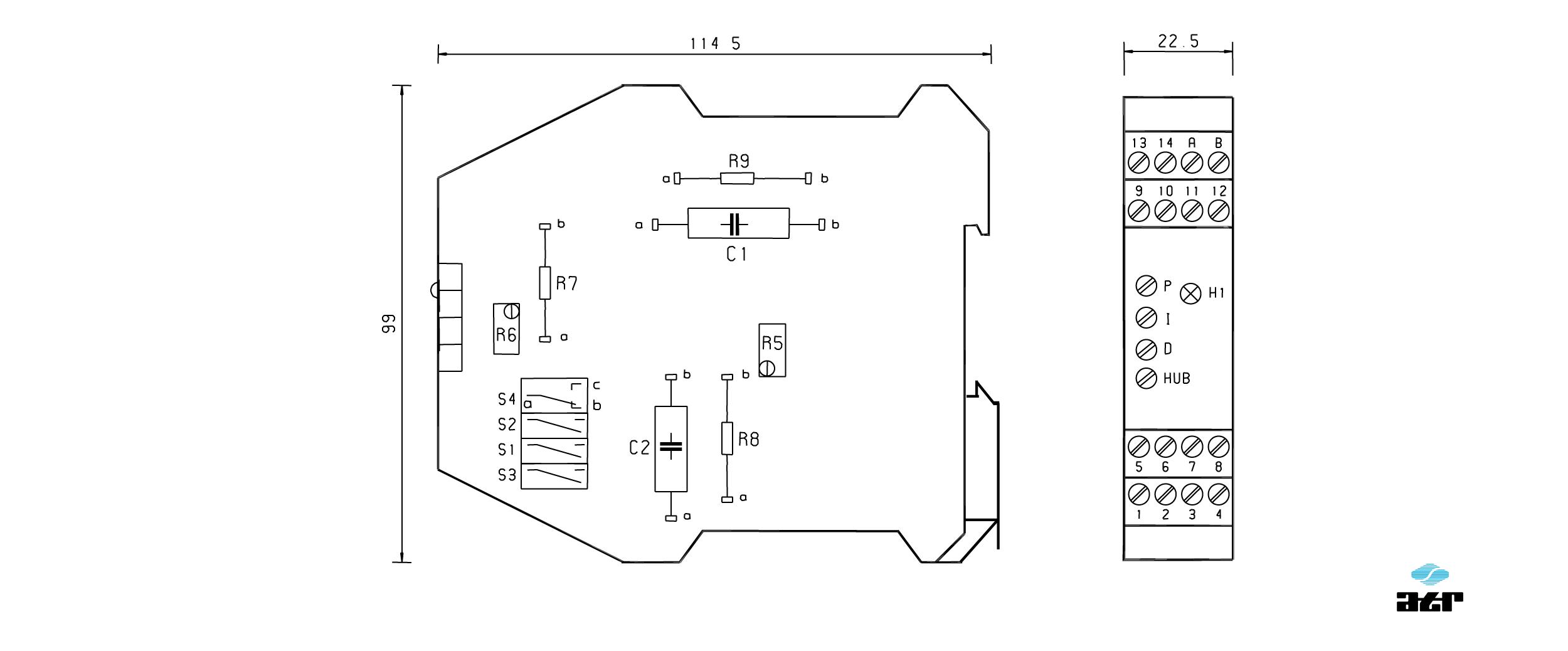 Gehäusemaße: ATR Regler VM201