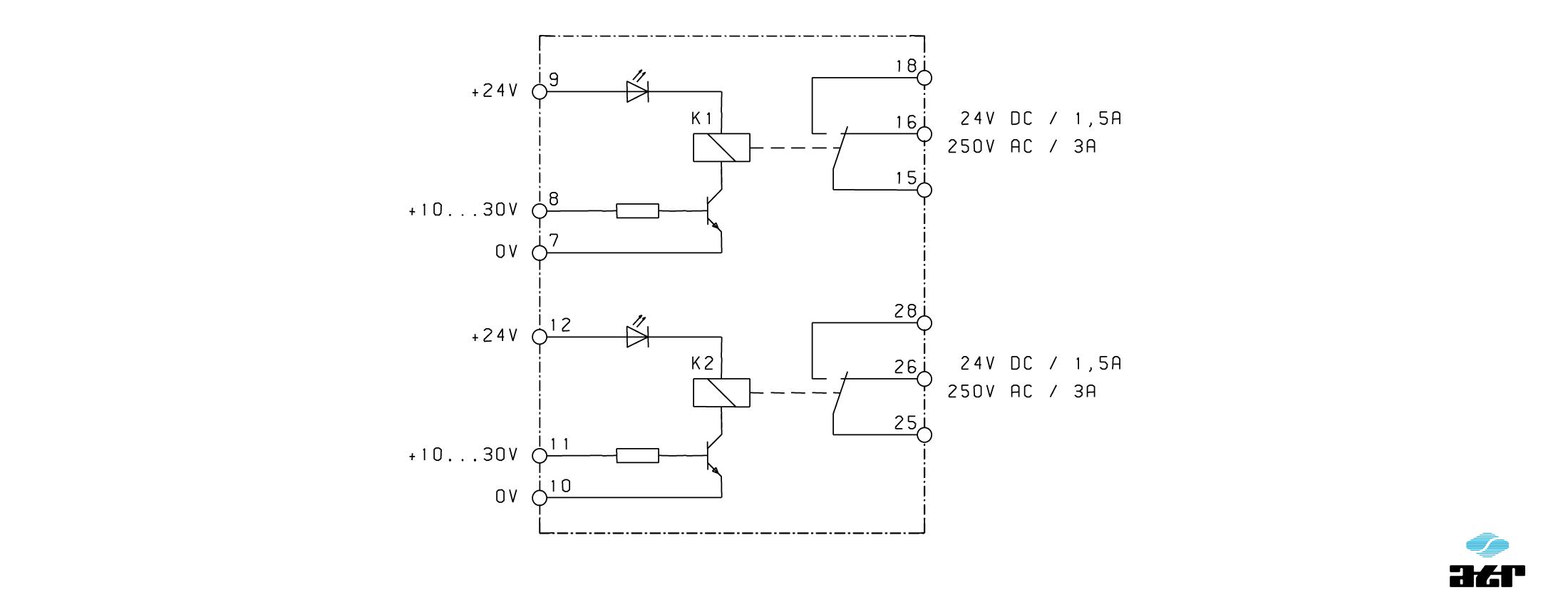 Anschlussplan: ATR Relais-Baustein RM3