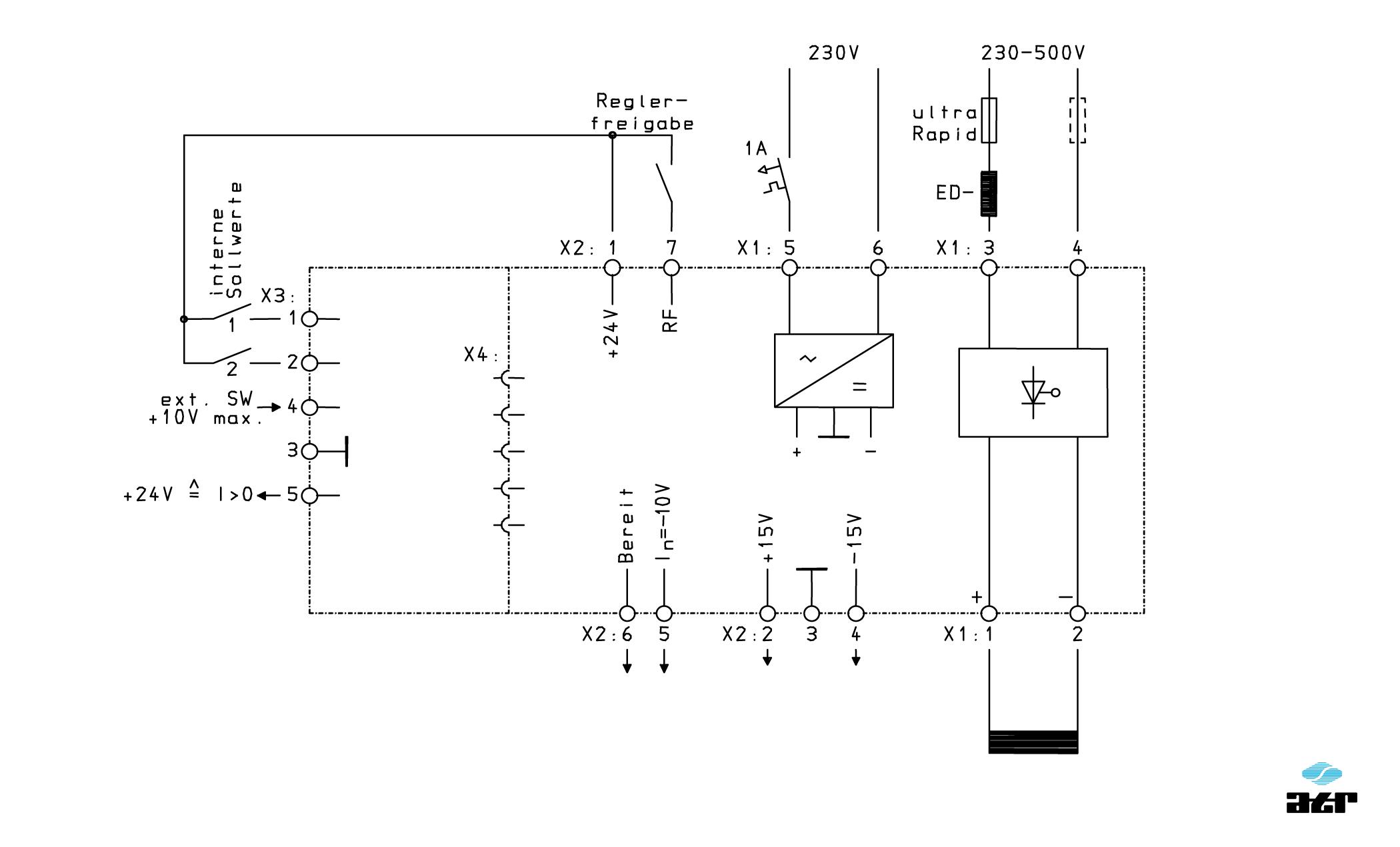 Anschlussplan: ATR Stromrichter GEI3