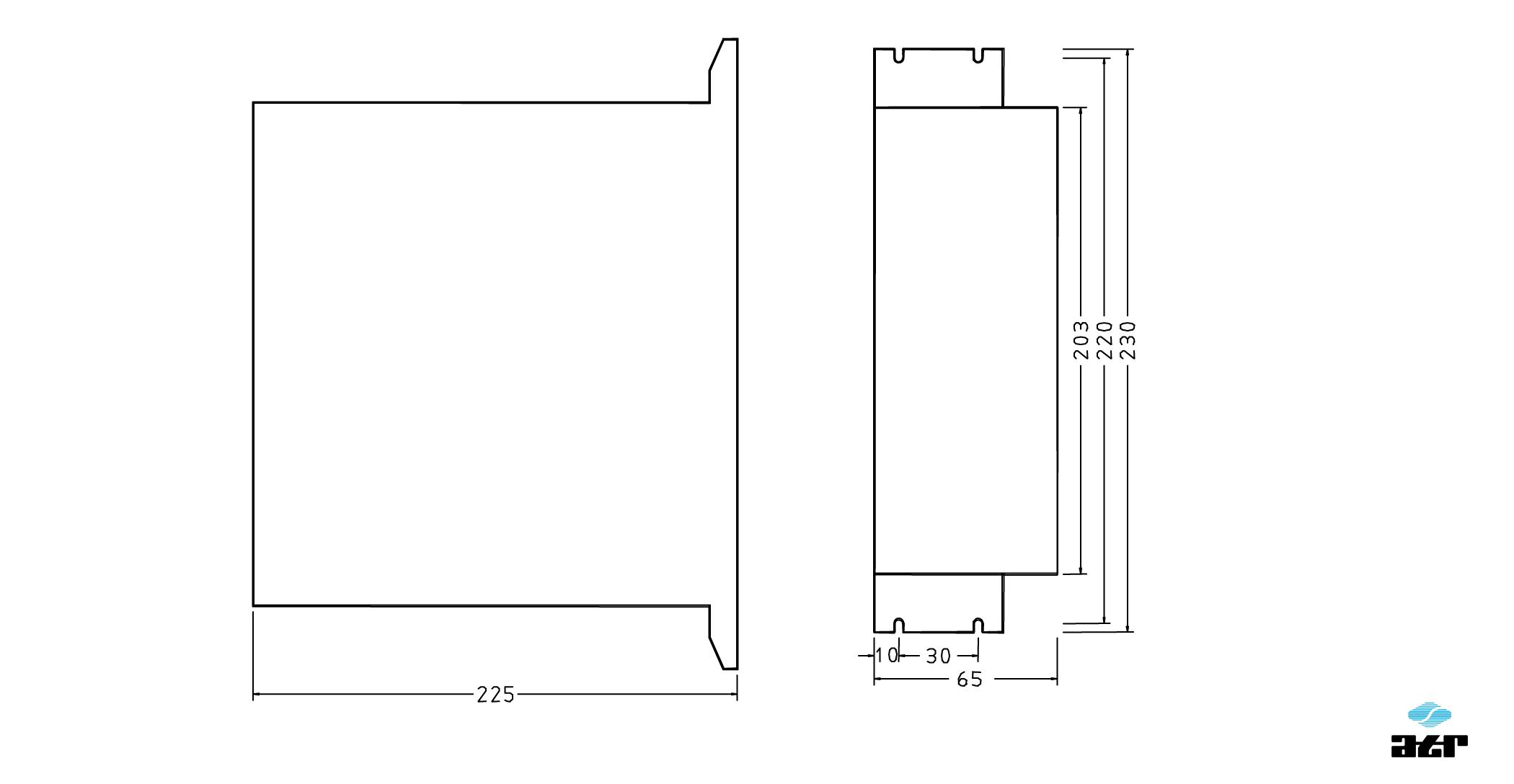 Gehäusemaße: ATR Stromrichter GEI3