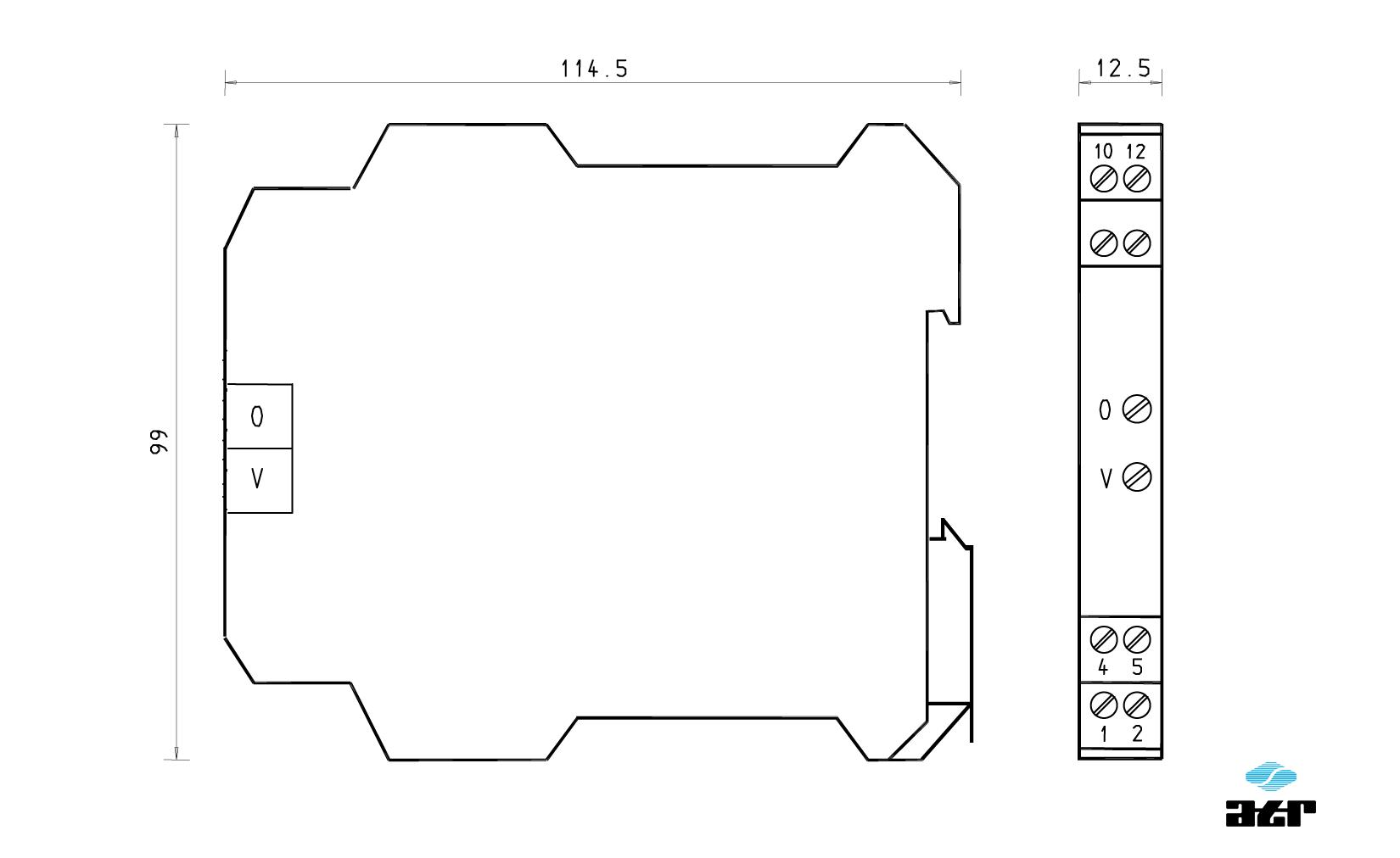Gehäusemaße: ATR Trennverstärker VM130-VM139