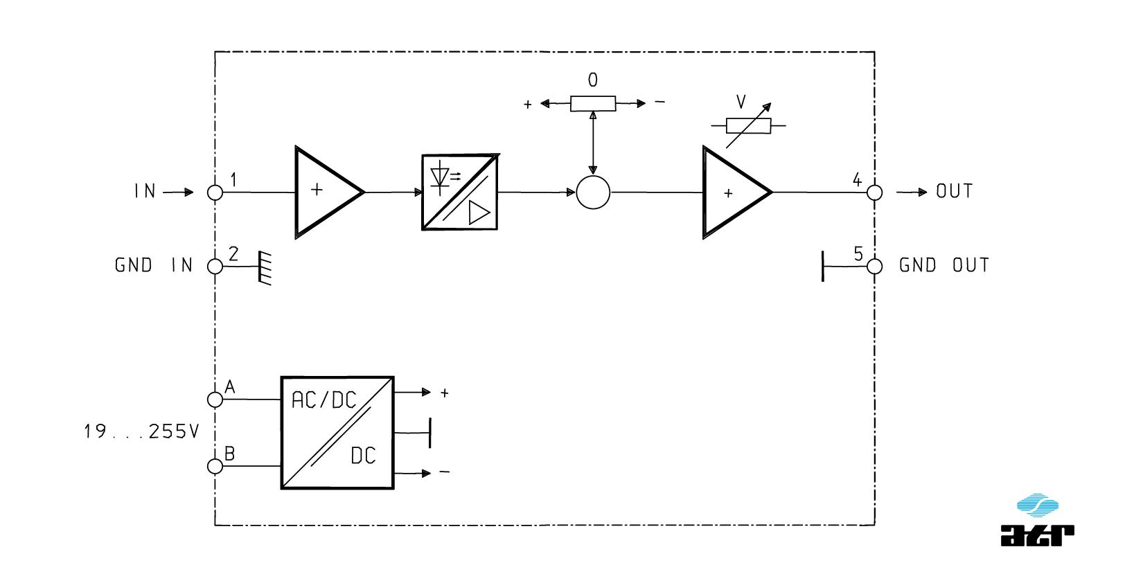 Anschlussplan: ATR Trennverstärker VM280-VM288