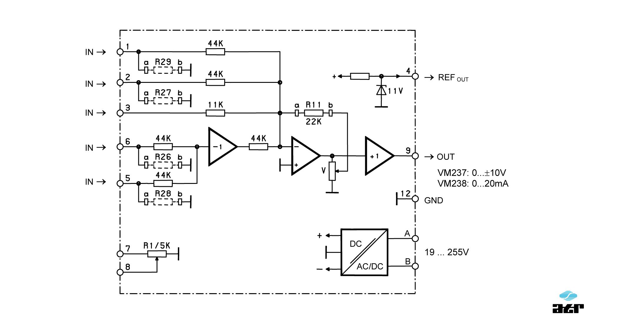 Anschlussplan: ATR Verstärker VM237-VM238